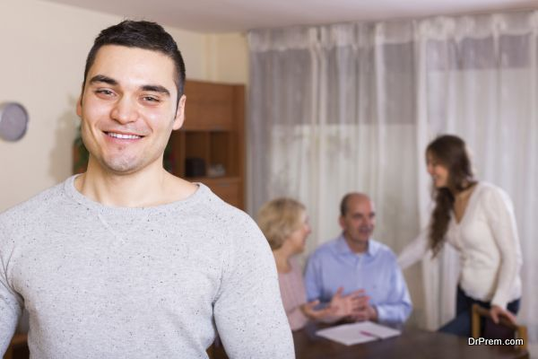 Man staying near family members