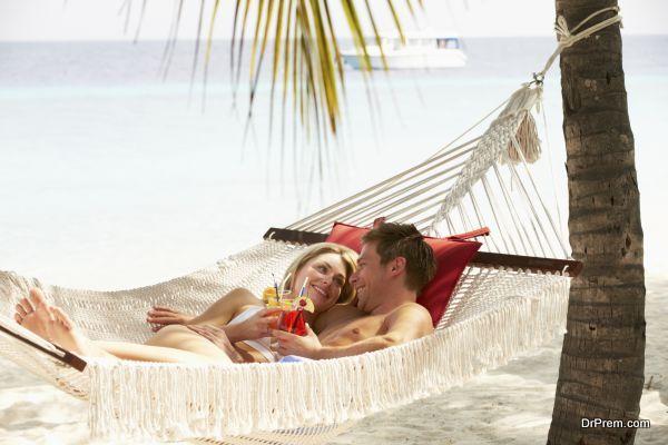 couple enjoying in resort