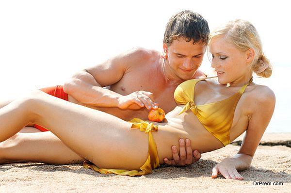 Love games on the beach