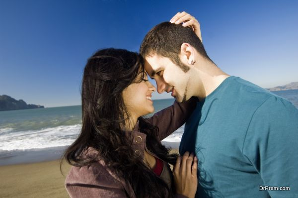 Affectionate couple at beach